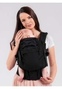 Isara Cotton Carrier - The Trendsetter - Black a Porter - Baby